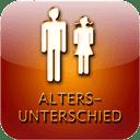 Altersunterschied: Maximalen gesellschaftlich akzeptierten Altersunterschied zwischen Partnerin und Partner berechnen.